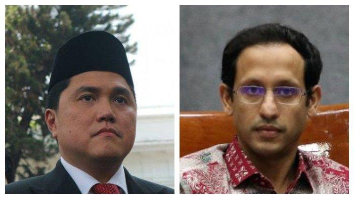 100 Hari Jokowi Jilid 2, Erick Thohir dan Nadiem Makarim Dinilai Bagus, Tapi Kurang Dukungan